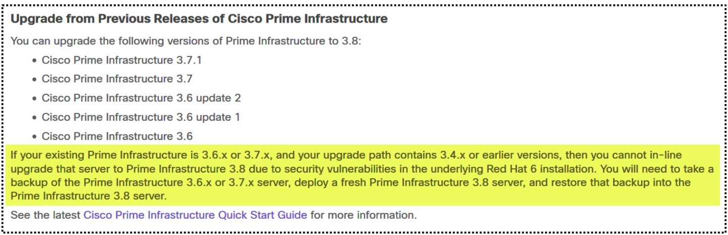 Cisco.com - Document d'installation Prime Infrastructure 3.8