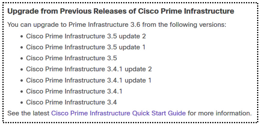 Cisco.com - Document d'installation Prime Infrastructure 3.6