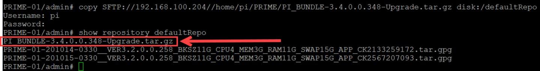 Prime Infrastructure 3.2 - Transfert du fichier de mise à jour